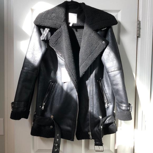 7de250dd7fc Avec Les Filles black biker jacket - sz S. NWT.